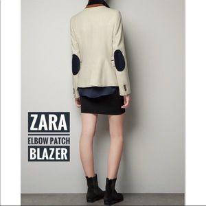 🎁SALE🎁 Zara Elbow Patch Jacket Blazer XS